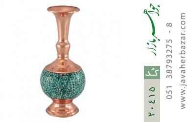 تندیس مس و فیروزه فریم دست ساز - کد 20415