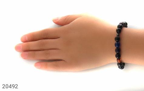 دستبند عقیق و کهربا و حدید زنانه - عکس 5