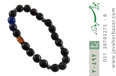 دستبند عقیق و کهربا و حدید زنانه - کد 20492