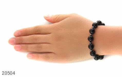 دستبند حدید و عقیق سیاه زنانه - عکس 5