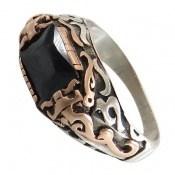 انگشتر نقره طرح صفوی سنتی مردانه