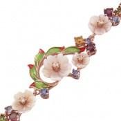 دستبند تورمالین و صدف مانی طرح فاخر و سلطنتی زنانه