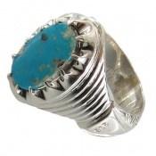 انگشتر فیروزه زیبای نیشابوری مردانه