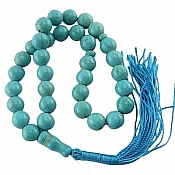 تسبیح فیروزه تبتی درشت 33 دانه