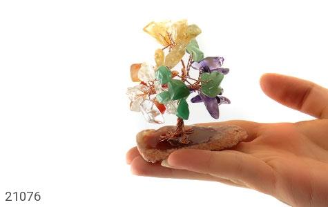 تندیس جید و عقیق و آمتیست درختچه سنگ درمانی - تصویر 8