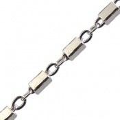 زنجیر نقره طرح حلقه خط 45 سانتی