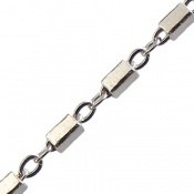 زنجیر نقره طرح مستطیل حلقه 45 سانتی