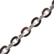 زنجیر نقره طرح حلقه ای 45 سانتی