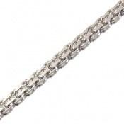 زنجیر نقره طرح بافت کلاسیک51 سانتی