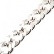 زنجیر نقره حلقه ای درشت 46 سانتی