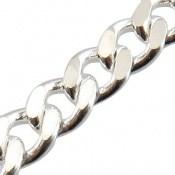 زنجیر نقره طرح حلقه 50 سانتی