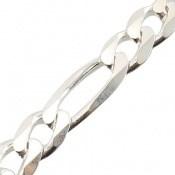 دستبند نقره اسپرت و درشت 21 سانتی