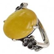 انگشتر عقیق زرد شرف الشمس رکاب فری سایز زنانه