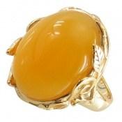 انگشتر عقیق زرد رکاب فری سایز طرح سلطنتی زنانه