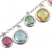 دستبند طرح نشاط و فاخر نقره ای زنانه