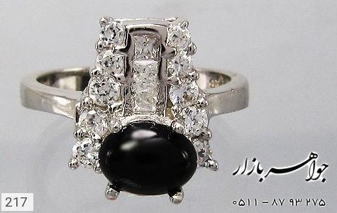 انگشتر عقیق سیاه پرنگین زنانه - تصویر 4