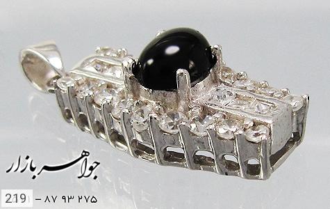 مدال عقیق سیاه پرنگین زنانه - عکس 3