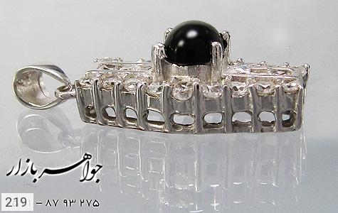 مدال عقیق سیاه پرنگین زنانه - تصویر 4