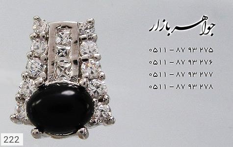 گوشواره عقیق سیاه پرنگین زنانه - تصویر 2