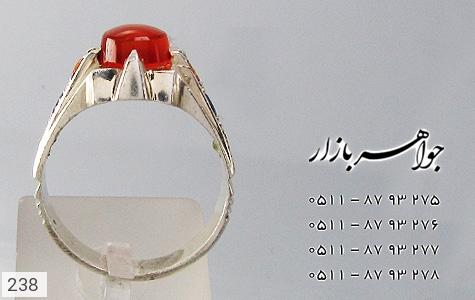 انگشتر عقیق رکاب دست ساز - تصویر 2
