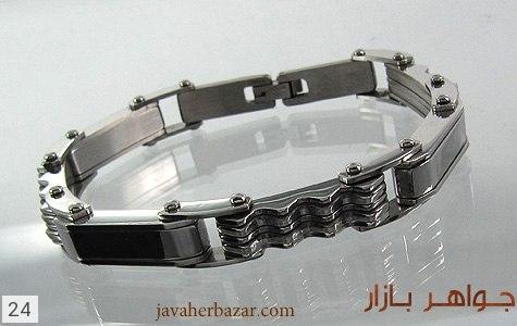 دستبند استیل مردانه - عکس 1