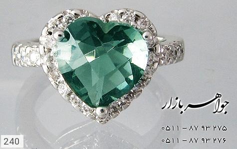 انگشتر توپاز طرح قلب زنانه - تصویر 4