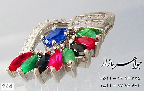 مدال زمرد یاقوت طرح برگ زنانه - تصویر 4