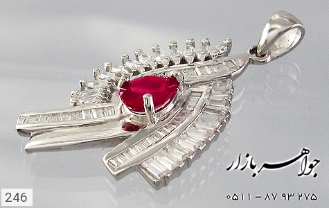 مدال تـایلنـدی درشت طرح یاقوت زنانه - تصویر 2