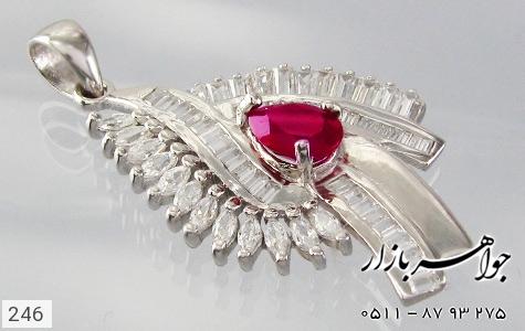 مدال تـایلنـدی درشت طرح یاقوت زنانه - عکس 3
