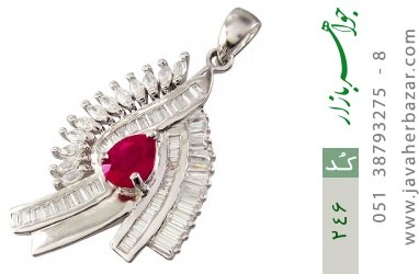مدال تـایلنـدی درشت طرح یاقوت زنانه - کد 246