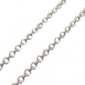 زنجیر نقره طرح حلقه ای