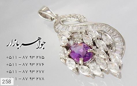 مدال آمتیست پرنگین زنانه - عکس 3