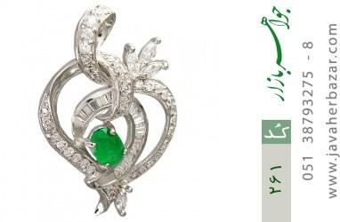 مدال جید طرح قلب درشت زنانه - کد 261