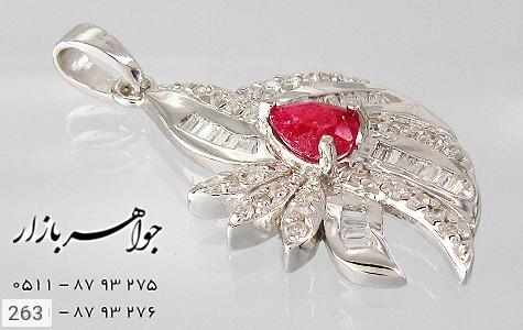 مدال یاقوت سرخ پرنگین زنانه - تصویر 2