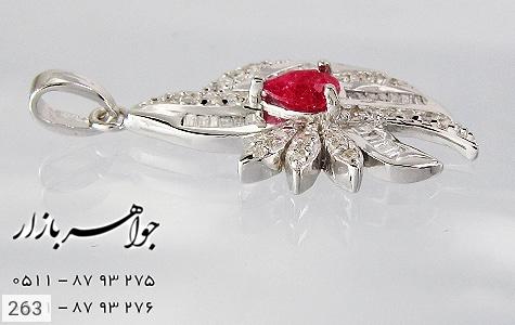 مدال یاقوت سرخ پرنگین زنانه - عکس 3
