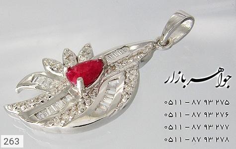 مدال یاقوت سرخ پرنگین زنانه - تصویر 4