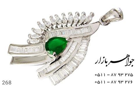 مدال تـایلنـدی درشت طرح زمرد زنانه - عکس 1