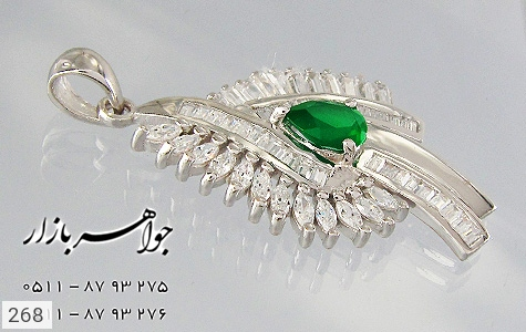 مدال تـایلنـدی درشت طرح زمرد زنانه - تصویر 2
