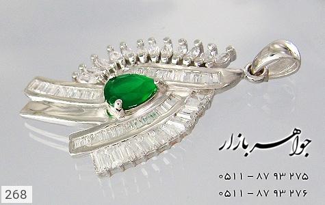 مدال تـایلنـدی درشت طرح زمرد زنانه - عکس 3