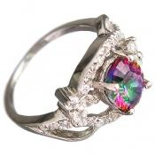 انگشتر توپاز هفت رنگ اسپرت زنانه