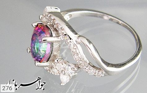 انگشتر توپاز هفت رنگ اسپرت زنانه - تصویر 2