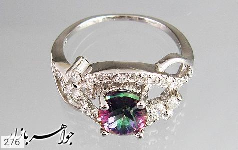 انگشتر توپاز هفت رنگ اسپرت زنانه - تصویر 4