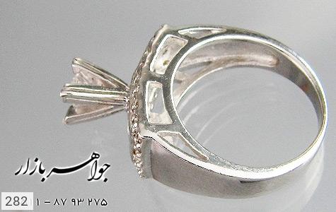 انگشتر نقره نگین اتمی زنانه - تصویر 2