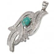 مدال فیروزه نیشابوری درشت مجلسی زنانه