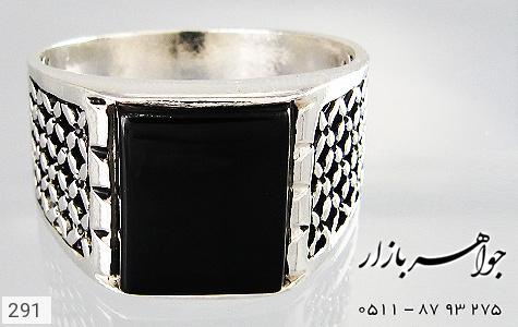 انگشتر عقیق سیاه طرح سیاه قلم - تصویر 2