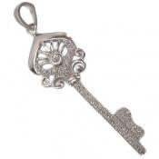 مدال نقره آب رودیوم طرح کلید
