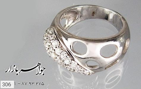انگشتر نقره آب رودیوم سفید اسپرت - تصویر 2