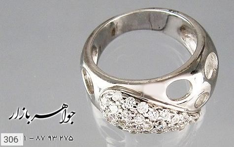 انگشتر نقره آب رودیوم سفید اسپرت - عکس 3