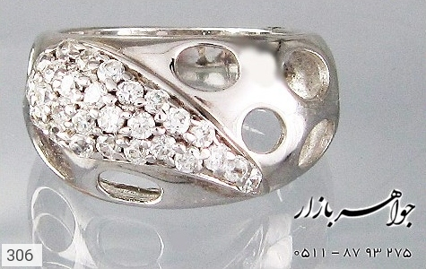 انگشتر نقره آب رودیوم سفید اسپرت - تصویر 4