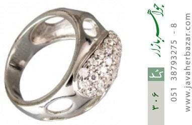 انگشتر نقره آب رودیوم سفید اسپرت - کد 306